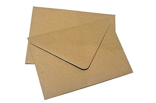 100 x Flecked Kraft Brown Premium C7 Small Mini A7 Card Envelope Blanks (RSVP): Amazon.co.uk: Office Products