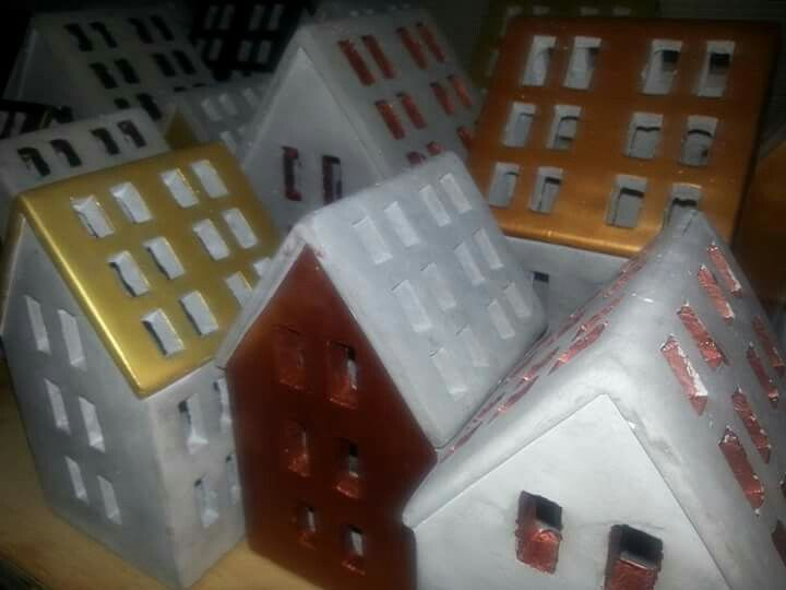 Painted concrete houses