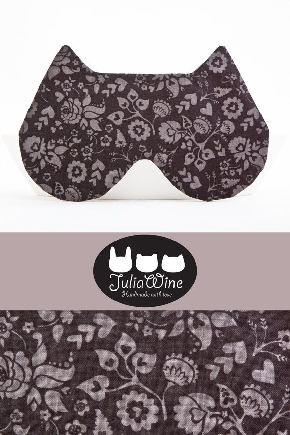 Hey, I found this really awesome Etsy listing at https://www.etsy.com/listing/225778210/black-sleep-mask-cat-eye-mask-floral