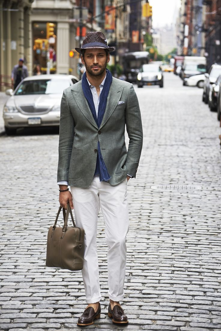 How To Wear A Scarf Men Summer