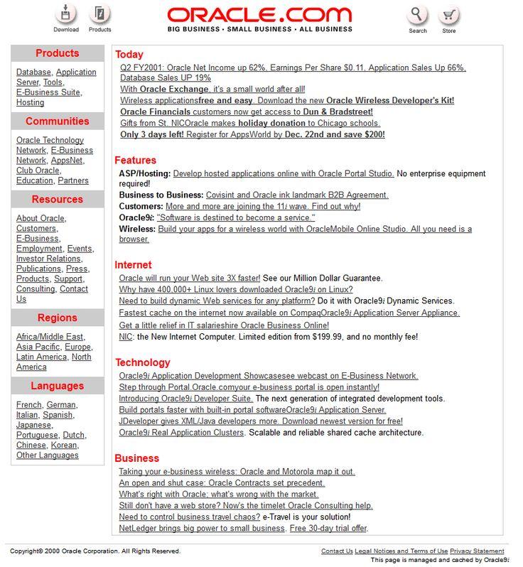 Oracle 2000