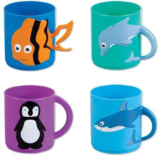"Sea Life Plastic Mugs - 3"" - 288 Units"