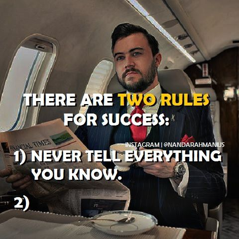 Two Rules for Success! #quote #quoteoftheday #success #business #entrepreneur #quotes