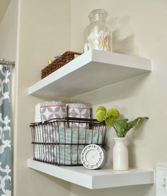 Best 25 como hacer estantes flotantes ideas on pinterest Repisas para bano easy