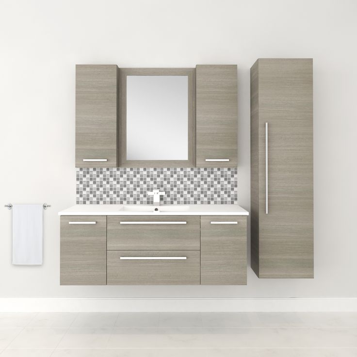 Silhouette Collection - ARIA #vanity #drawers #sink #lightcabinets #lightwood #bathrooms #interiordesign #renovations #CutlerKitchenandBath