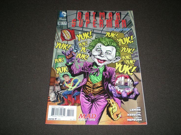Batman Superman 10, (2014), 1:25 MAD Variant Cover, DC Comics B2
