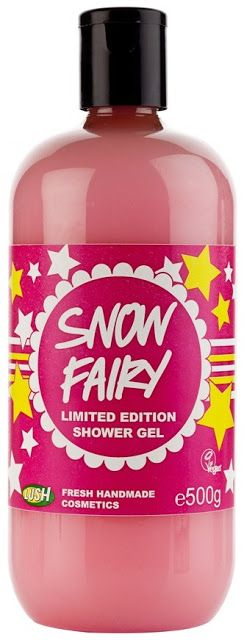 LUSH Snow Fairy Shower Gel  OBSESSED! <3 why can't this be a regular item...I only got 1 this year :(
