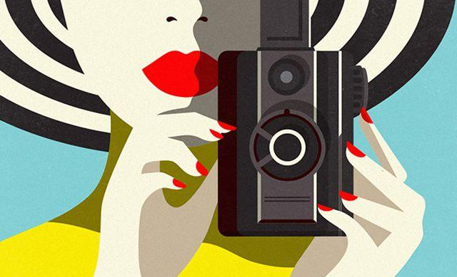 {red lips + striped hat} Malika Favre