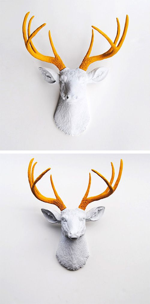 Stag's Head Wall Art | I will never be happy again unless I own this.... ##DotandBoDream