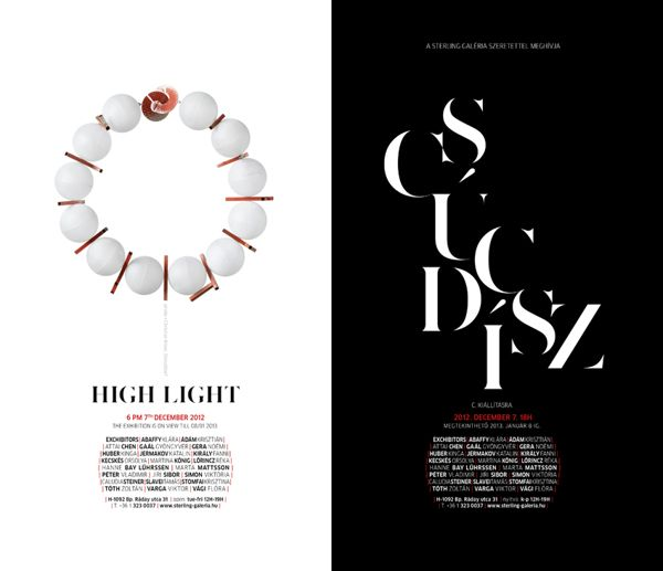 HighLight / CsúcsDísz by Sterling Gallery , via Behance