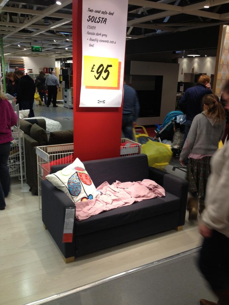 Ikea solsta 2 seat sofa bed 95 ikea love pinterest for Ikea jappling chair