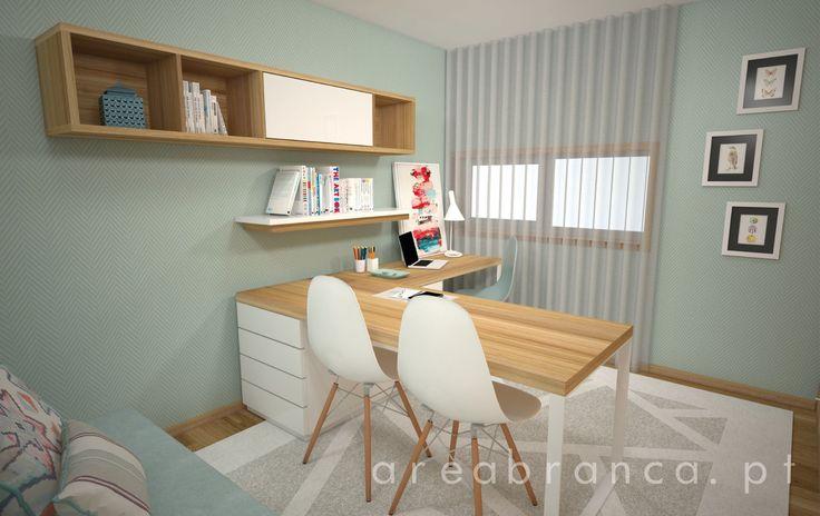 Escritório para ela | Her Office  #areabranca #designinteriores #arquitetura #interiordesign #architecture #office