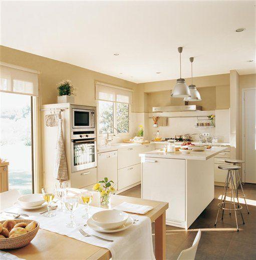 El office cocinar comer y compartir cocinas y ba os cocinas pinterest - Cocinas con office fotos ...