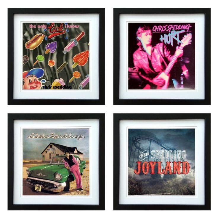 Chris Spedding   Framed Album Art Set of 4 Images   ArtRockStore