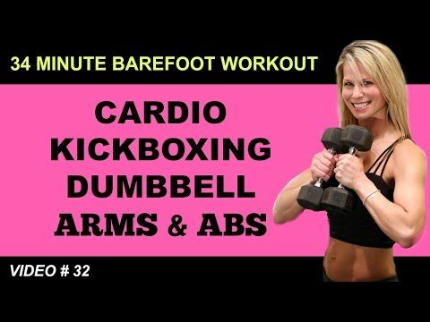Cardio Kickboxing Workout | ARMS ABS WORKOUT | Barefoot Workout - YouTube