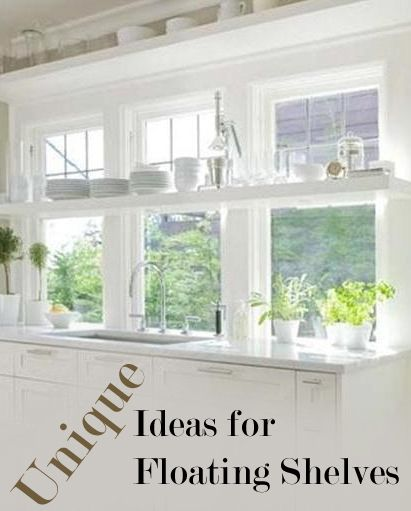 FLOATING SHELVES ~ Greatest thing ever!