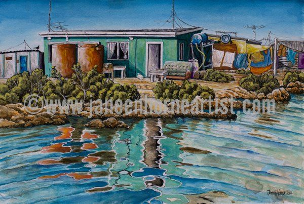 Basile Island - Abrolhos Islands- W.A. - Giclee print and gift card - www.janeenhorneartist.com