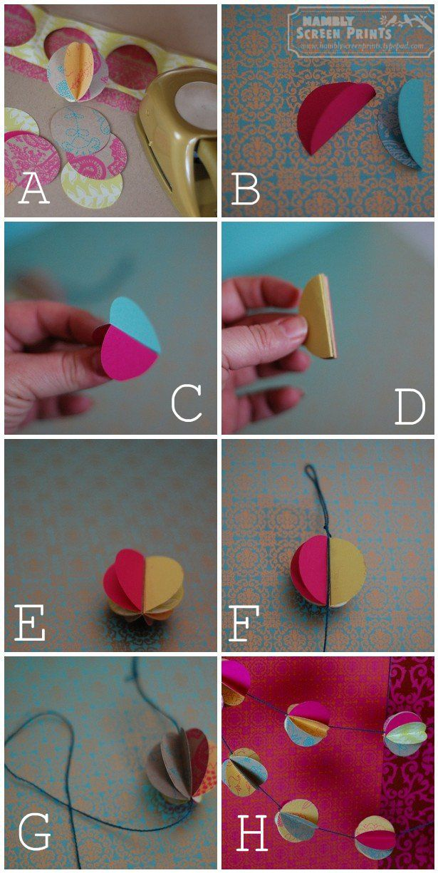 DIY-Garland~ make this with string, paper and a circle paper punch!