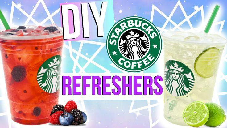 DIY Starbucks Drinks! DIY Starbucks! DIY Starbucks Refreshers! DIY Starbucks for Summer! DIY! Starbucks!