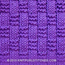 Basket weave ribbing stitch | knitpurlstitches.com