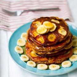 Peanut Butter Banana Oat Pancakes.