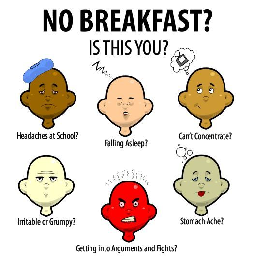 I can relate to this when I sometimes don't have breakfast