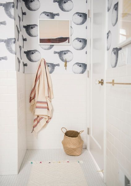 Don't Hold Back On Art - 15 Ways To Make A Small Bathroom Pop - Photos