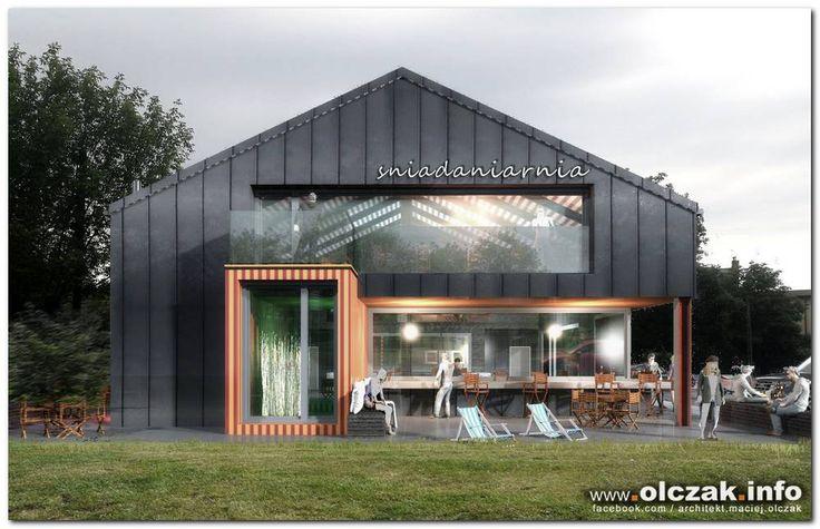 Architekt Maciej Olczak - projekt lokali uslugowych