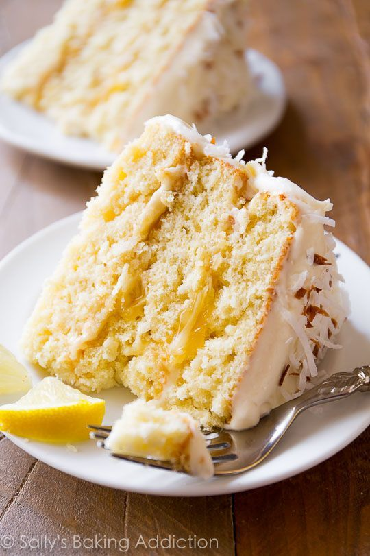 Lemon Coconut Cake. | Sally's Baking Addiction | Bloglovin'