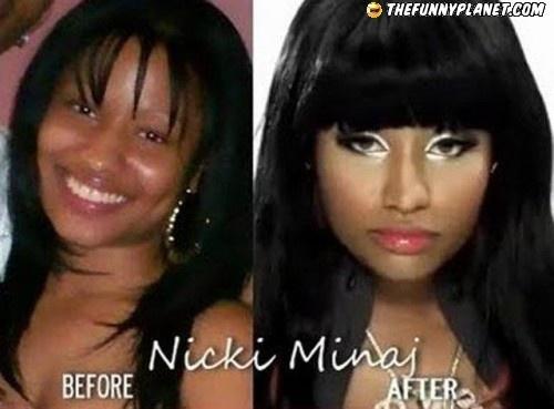 Nicki Minaj - Before and After Makeup! | nicki minaj ...