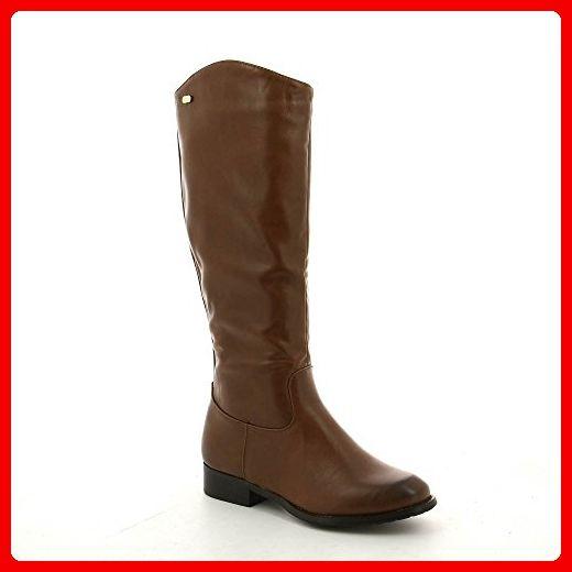 Ideal Shoes, Damen Stiefel & Stiefeletten , Braun - braun - Größe: 39 - Stiefel für frauen (*Partner-Link)