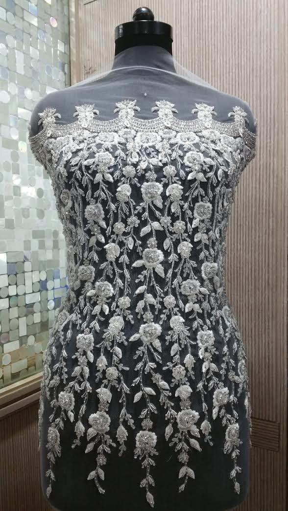 Hand Beaded Wedding Dress Bodice