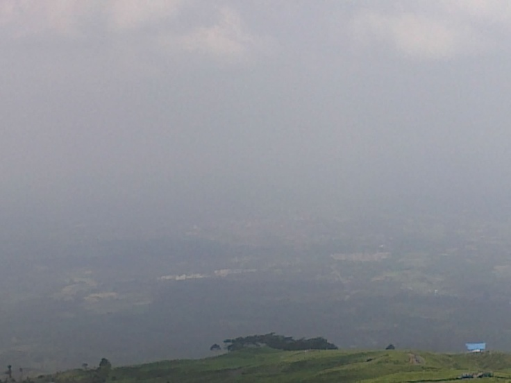 Mist of Mount Dempo view on top