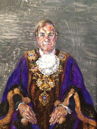 Portrait of the Guild Mayor of Preston by Maggi Hambling.