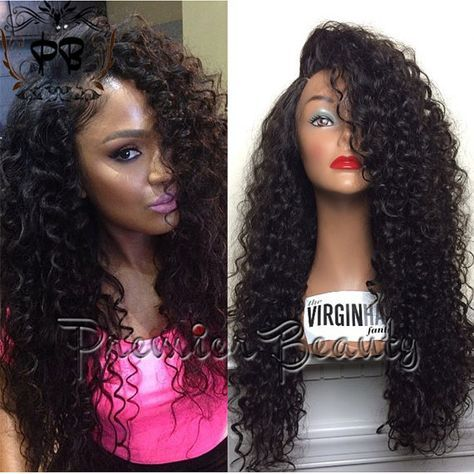 Freeshipping curly human hair wigs curly natural black brazilian hair glueless full lace wig with baby hair for black &african americans