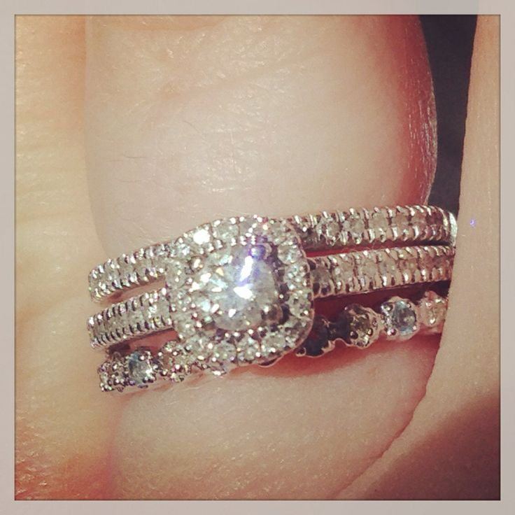 Exquisite wedding rings Engagement ring or wedding band first