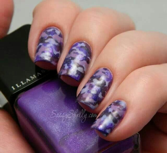 Best 25+ Camo Nail Designs Ideas On Pinterest