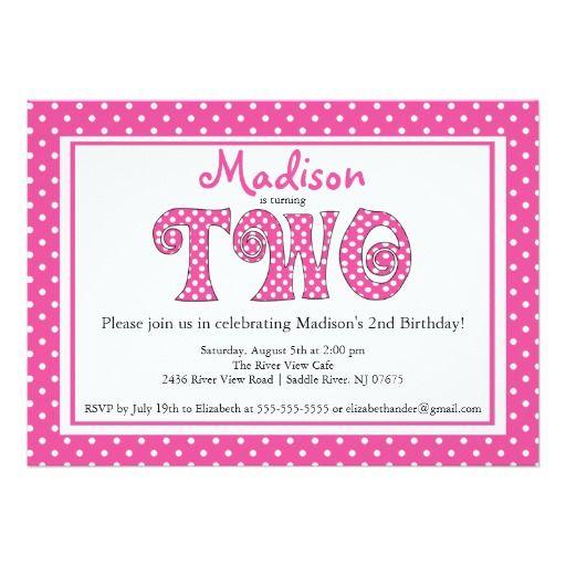185 best 2nd Birthday Invitations images – 2nd Birthday Invite