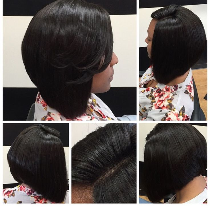Bob cut lace closure weave install