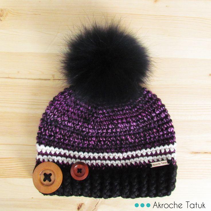 crochet hat pattern  patron tuque bonnet au crochet