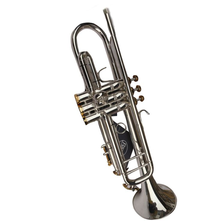 1 Set Custom Professional Trumpet  For Sale Copy Bach 180 S-43 Little Instrument Surface Silver Trompete Brass Tube Bb Trombeta #Affiliate