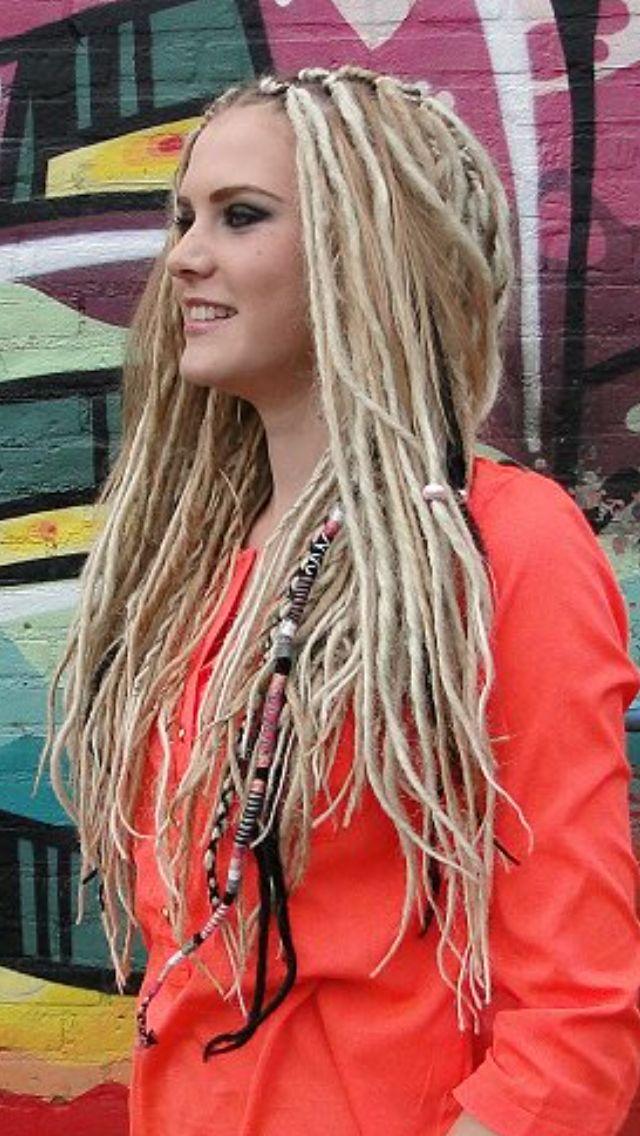 Lichtgewicht Dreads Blond & Black DreadWrap by BiancaDreads.nl