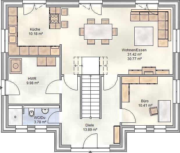 ART 146 - Einfamilienhaus Grundriss Erdgeschoss