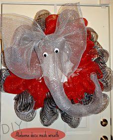 DIY University of Alabama deco mesh wreath