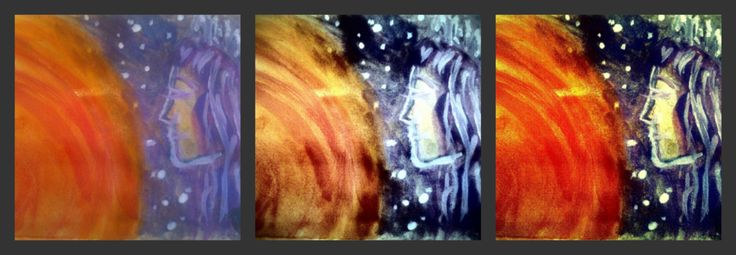 """""""Fotohrátky - Vesmírný triptych"""",... Mystic... Watercolor"""