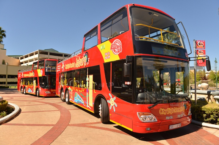 Launch - busses waiting for the delegates to board #JoziRedBus