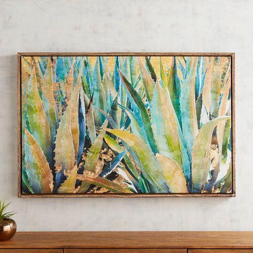 Agave Garden Framed Art Plant Art Inspirational Wall Art Wall Art Canvas Painting