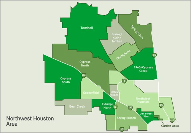 Northwest Map Of Houston Amp Surrounding Communities Area