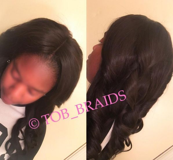 sew in with no leave out and closure to relationship
