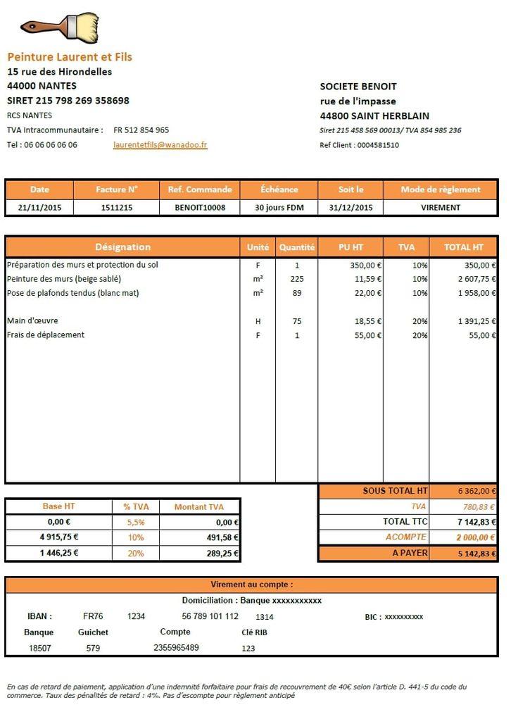 modele facture libreoffice - Document Online | Modele ...
